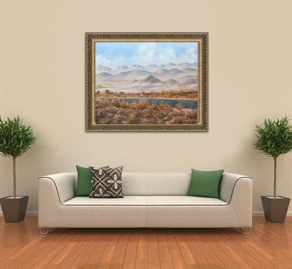 Ambient Desert framed on the wall