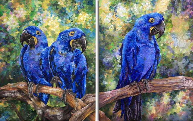 Blue Parrots by Tanya Jacobsz-112 x 71