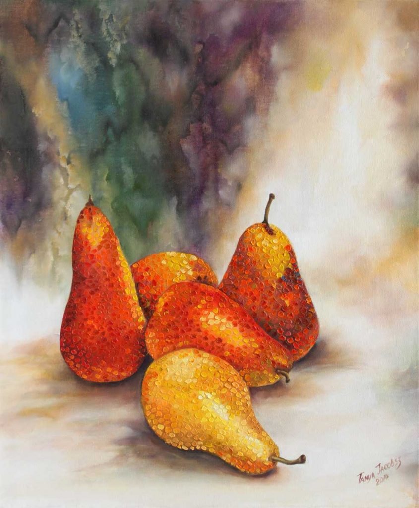 Pears in dots