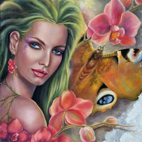 Wild Orchid. Fantasy Portrait by Tanya Jacobsz.