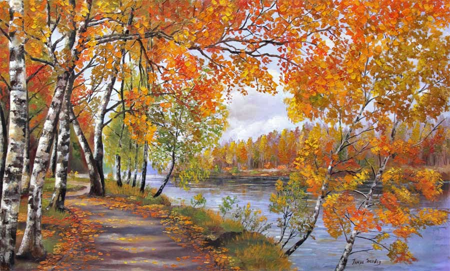 Golden Autumn. River