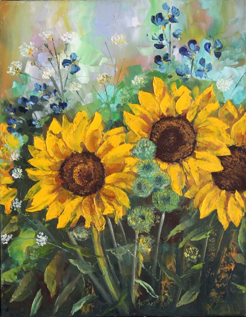 Sunflowers. Bouquet