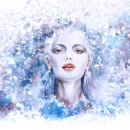 Winter Song. Fantasy Portrait by Tanya Jacobsz.
