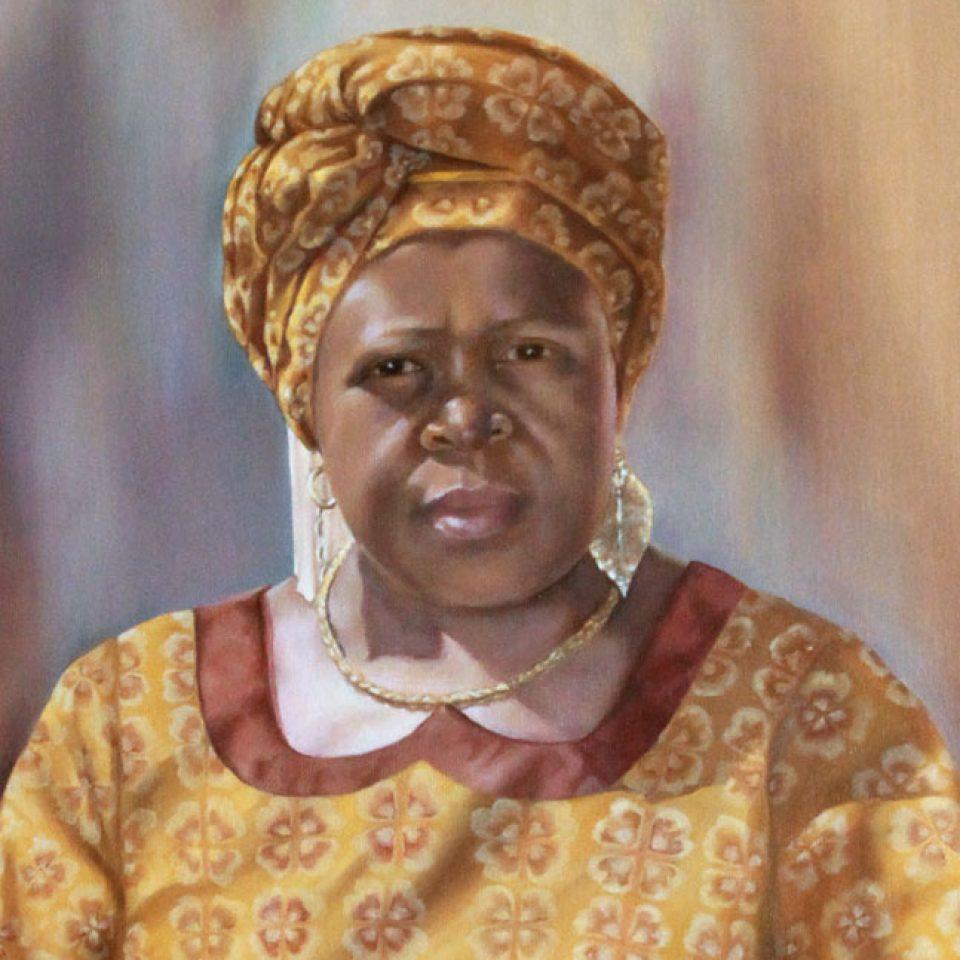 Nthabiseng portrait. Detail