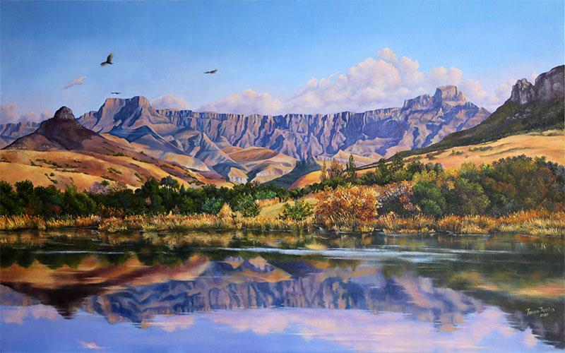 Drakensberg. Painting on order