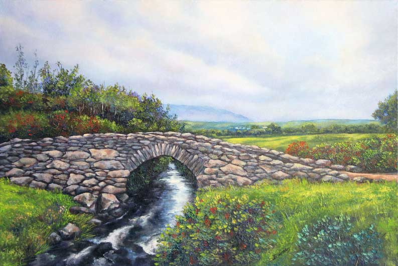 Garfinny Bridge. Painting on order