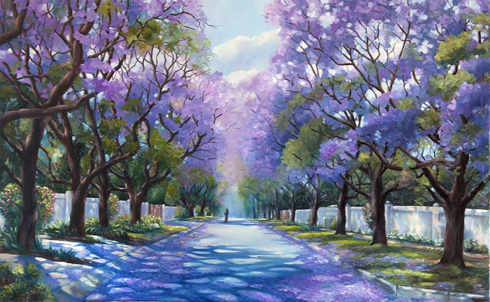 Jacaranda Street. Original copy