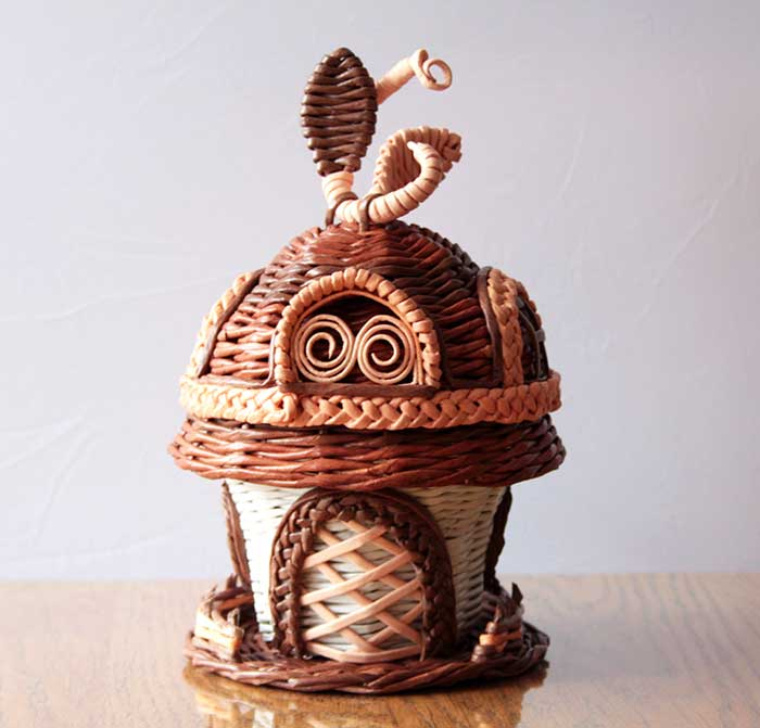 Gnome house with brown top