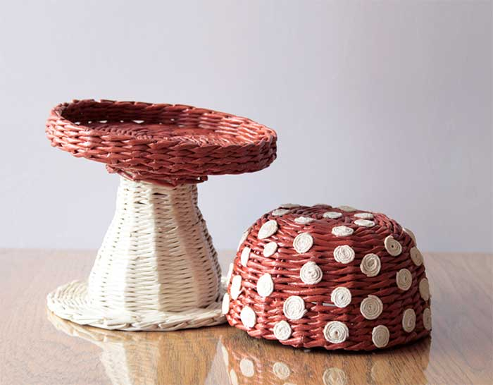Wicker Mushroom decorative