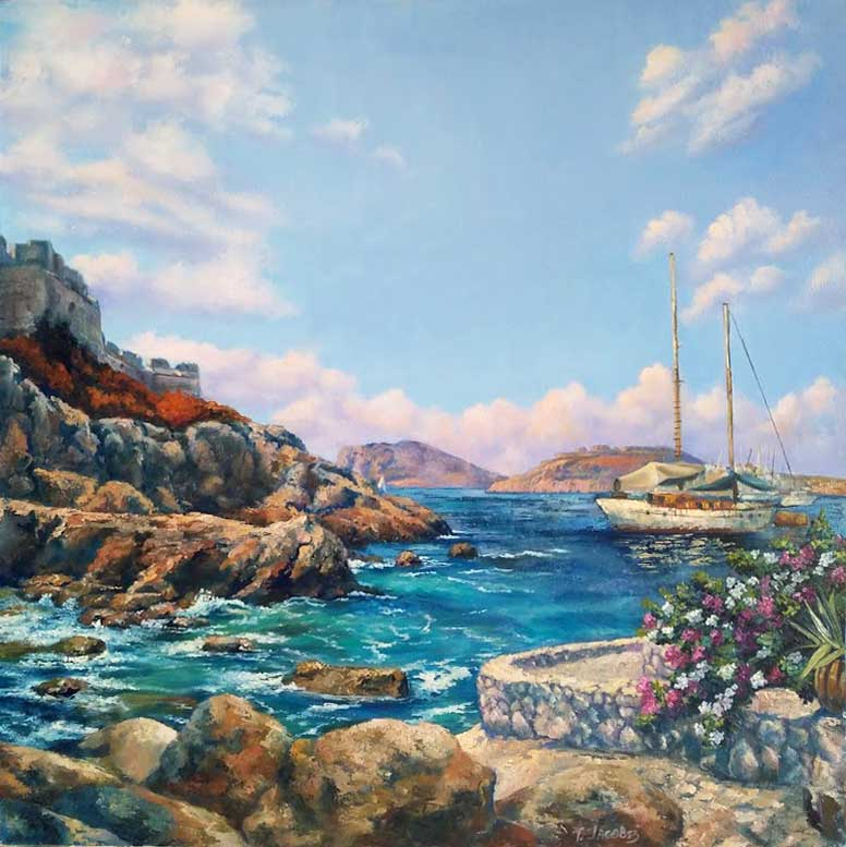 Rocky Shore. Mediterranean